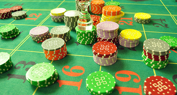 Roulette tableau chips dolly